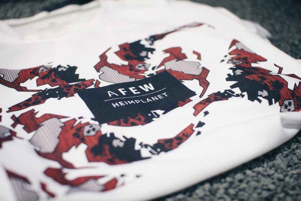 afew x heimplanet future koi pack event japan tag 2016 t-shirt detail